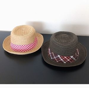 Crazy 8/ Baby 8 Lot of 2 Summer Paper Sun Hats